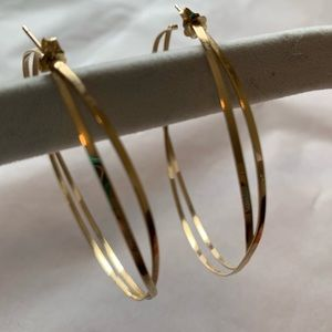 "Lana 14k gold 2.5"" hoops earrings featherweight"